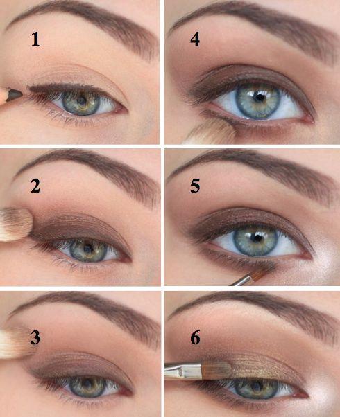 Как правильно накрасить глаза тенями поэтапно фото для начинающих